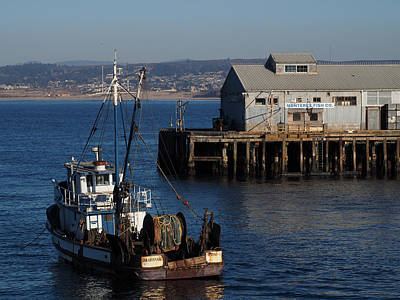Photograph - San Giovanni And Monterey Wharf  by Derek Dean