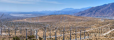 Photograph - San Gorgonio Pass Palm Springs Wind Turbines by David Zanzinger