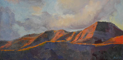 Painting - San Gorgonio Sunset by Joe White