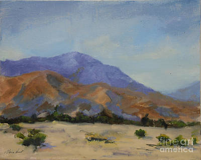 Mirage Painting - Mt. San Jacinto In Morning Light by Maria Hunt