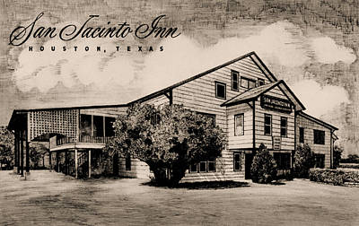 Photograph - San Jacinto Inn 1916-1987 Vintage Postcard by Connie Fox
