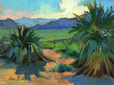 Yucca Painting - San Jacinto Visitors Center by Diane McClary