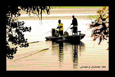 Digital Art - San Joaquin River Fishing by Joseph Coulombe