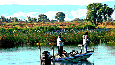 Photograph - San Joaquin River Fish'n by Joseph Coulombe
