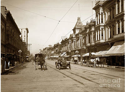 Photograph - 94-095-0001 Early Knox Automobile First Street San Jose California Circa 1905 by California Views Mr Pat Hathaway Archives