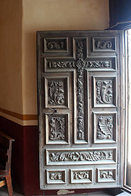 Photograph - San Jose Carved Door by Mary Bedy