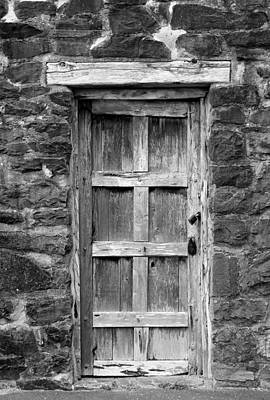 Photograph - San Jose Door Bw by Mary Bedy