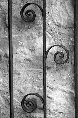 Photograph - San Jose Gate Detail Bw by Mary Bedy