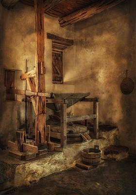 San Jose Mission Mill Art Print by Priscilla Burgers