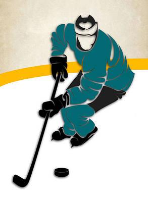 San Jose Sharks Rink Art Print by Joe Hamilton