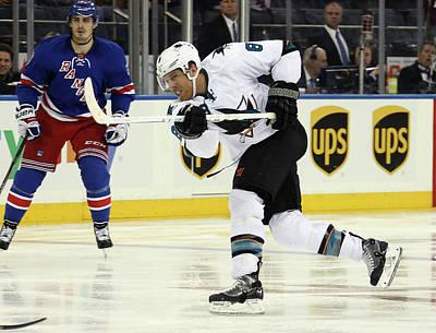 Photograph - San Jose Sharks V New York Rangers by Bruce Bennett