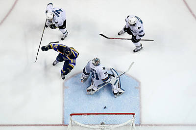 Stanley Cup Playoffs Photograph - San Jose Sharks V St Louis Blues - Game by Jamie Squire