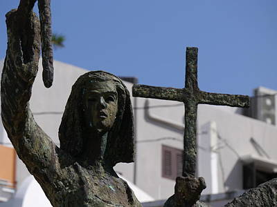 La Rogativa Photograph - San Juan - La Rogativa Townswoman by Richard Reeve