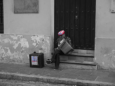 Photograph - San Juan Accordion Player II by Richard Reeve