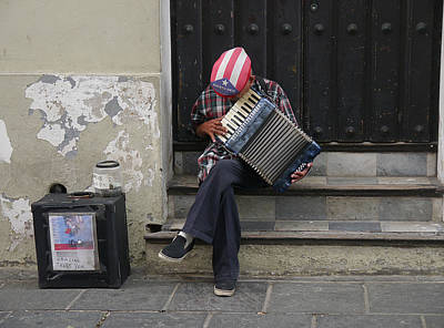 Photograph - San Juan Accordion Player by Richard Reeve