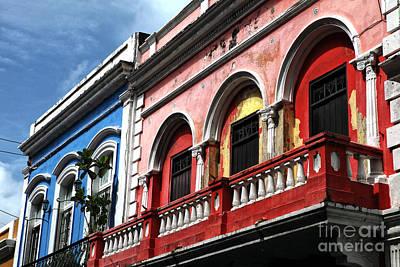 San Juan Balcony Art Print by John Rizzuto