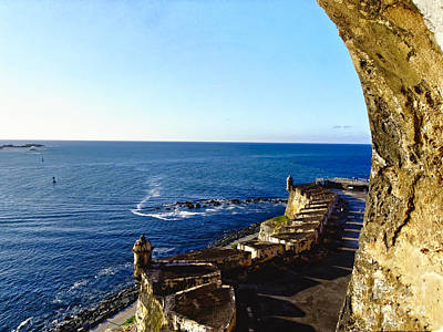 El Morro Fortress Photograph - San Juan Bay View From A Fort by George Oze