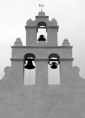 Photograph - San Juan Bell Tower 2 Bw by Mary Bedy