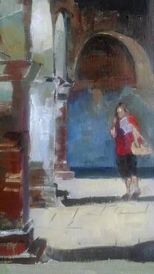 California Missions Painting - San Juan Capistrano Enjoyment by Karla Bartholomew