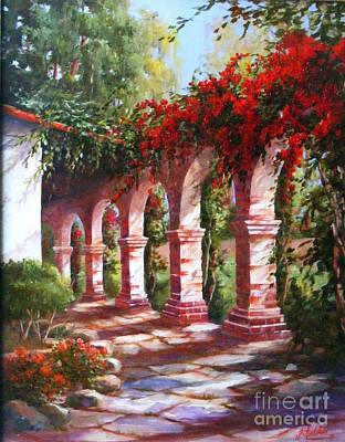 San Juan Capistrano Painting - San Juan Capistrano Mission by Gail Salitui