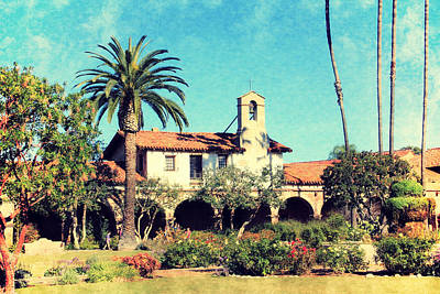Photograph - San Juan Capistrano Mission by Jan Cipolla