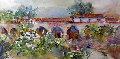 San Juan Painting - San Juan Capistrano Mission by Rose Sinatra