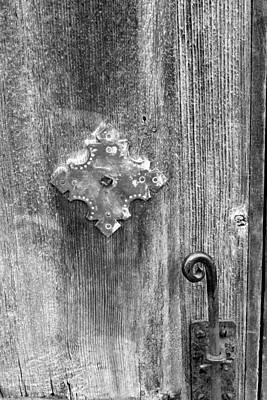 Photograph - San Juan Door Detail W Latch Bw by Mary Bedy