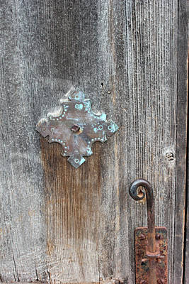 Photograph - San Juan Door Detail With Latch by Mary Bedy