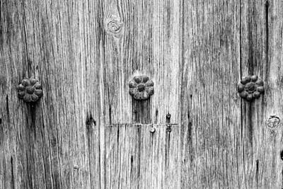 Photograph - San Juan Doorway Detail Bw by Mary Bedy