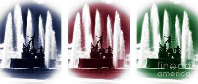 Photograph - San Juan Fountain Colors by John Rizzuto