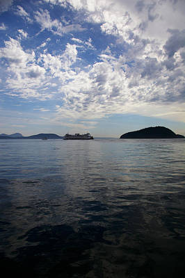 Photograph - San Juan Island Ferry With Changing Skies by Christine Burdine