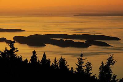 Orcas Island Photograph - San Juan Islands From Mount by Michel Hersen