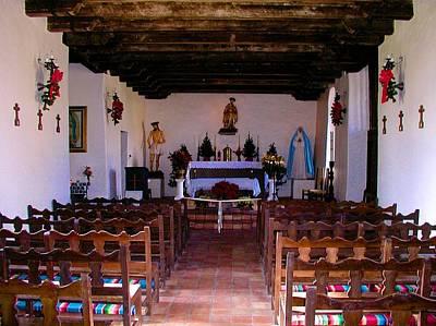 Photograph - San Juan Mission Interior by Ricardo J Ruiz de Porras