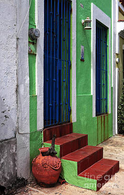 Old School House Photograph - San Juan Red Stairs by John Rizzuto