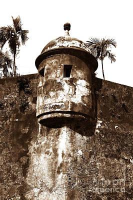 San Juan Tower Art Print by John Rizzuto