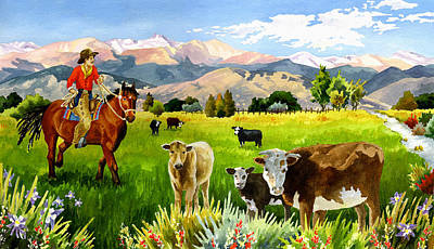 San Juan Valley Print by Anne Gifford