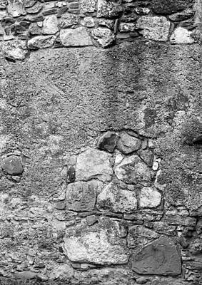 Photograph - San Juan Wall 2 Bw by Mary Bedy
