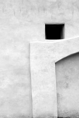 Photograph - San Juan Wall Abstract 1 Bw by Mary Bedy