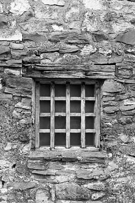Photograph - San Juan Window 2 Bw by Mary Bedy