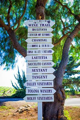 Photograph - San Luis Obispo Coastal Wine Trail by Priya Ghose