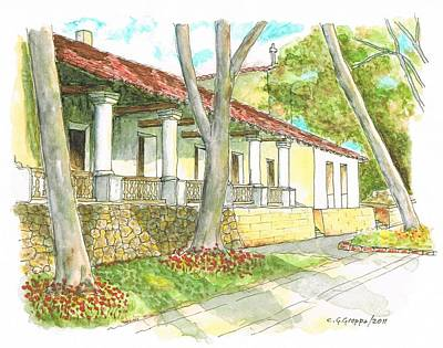 San Luis Obispo Mission - California Art Print by Carlos G Groppa