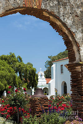Photograph - San Luis Rey - Mission Church by Sandra Bronstein