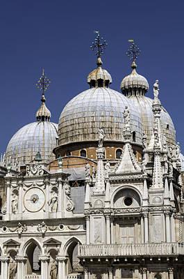 Byzantine Photograph - San Marco Basilica. by Fernando Barozza