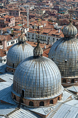 Medieval Temple Photograph - San Marco Basilica. Venice. by Fernando Barozza