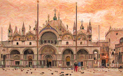 Digital Art - San Marco Venice by Liz Leyden