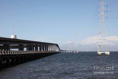 San Mateo Bridge In The California Bay Area 5d21893 Art Print by Wingsdomain Art and Photography