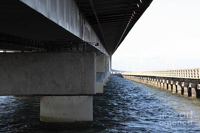 San Mateo Bridge In The California Bay Area 5d21908 Art Print by Wingsdomain Art and Photography