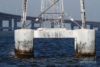San Mateo Bridge In The California Bay Area 7d21943 Art Print by Wingsdomain Art and Photography