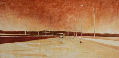 San Mateo Bridge Art Print