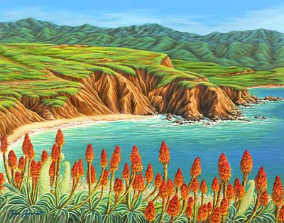 San Mateo Springtime Art Print by Jane Girardot